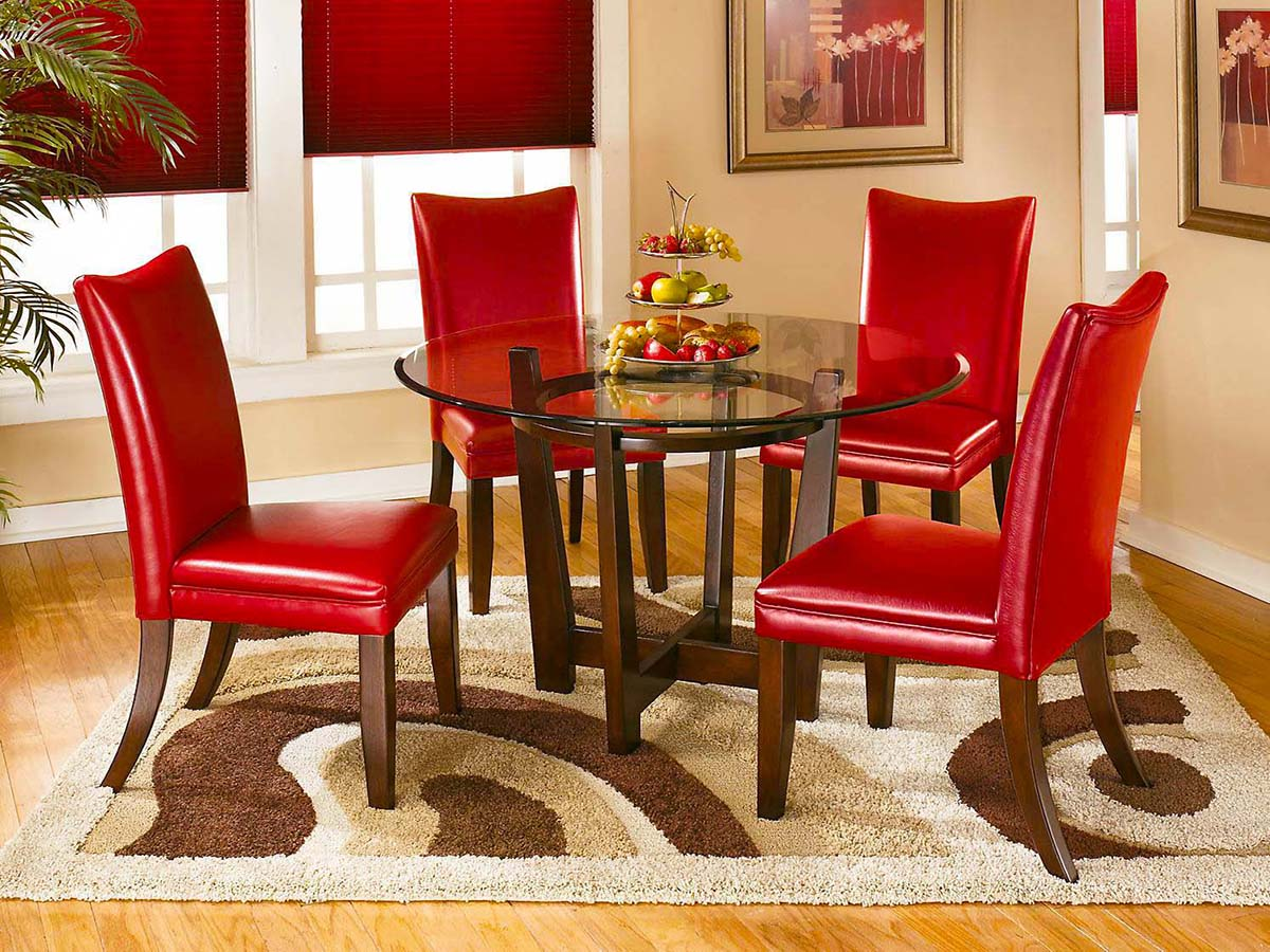 Charrell Red Dining Room at MJM Furniture in Coquitlam