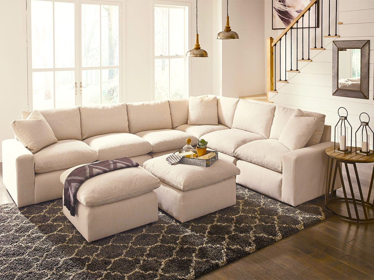 Savesto Ivory Sectional at MJM Furniture in Coquitlam