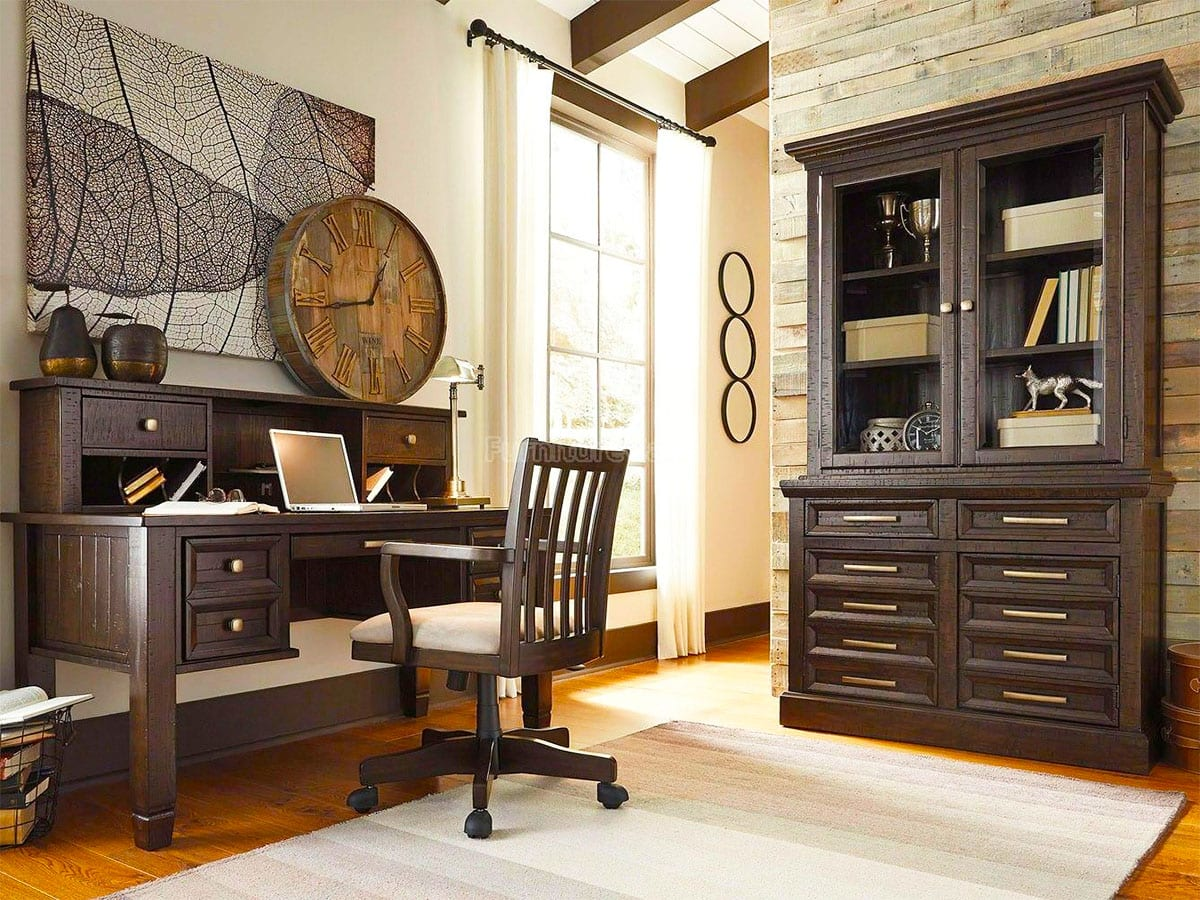 Townser Home Office Desk with Hutch at MJM Furniture in Coquitlam