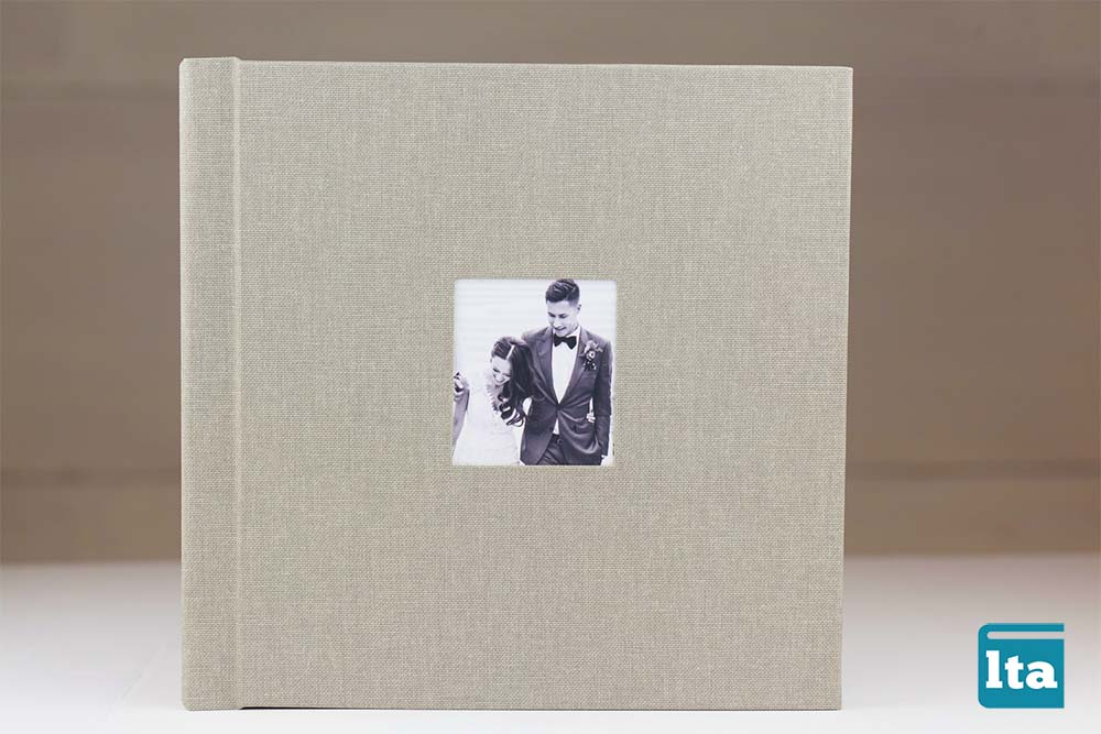 Cameo on wide linen photobook by lifethread albums on Best in BC