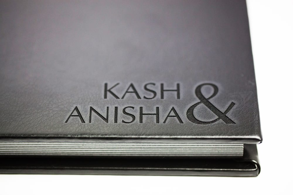 Handmade laser engraved leather photo album by lifethreads albums