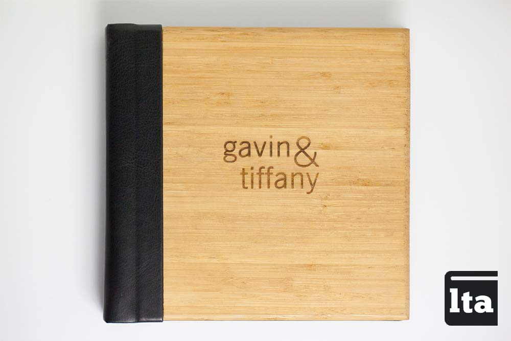 Laser Engraved Bamboo Covered Photobook by lifethreeads albums